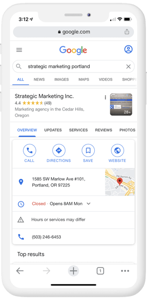 Show up on local Google search results.